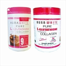 1 Jar Aura White Pure L-Glutathione Collagen + 1 Jar Aura White Pure G