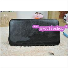 PR030_Black Korean Fashion Long Tin Wallet