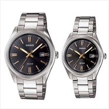 CASIO MTP-1302D-1A2 + LTP-1302D-1A2 COUPLE PAIR WATCH