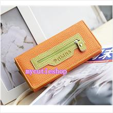 PR066_Orange Dalins Soft Leather Purse