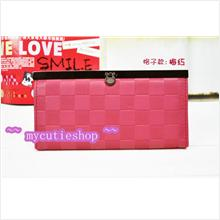 PR046_Peach Square Metal Buckle Purse