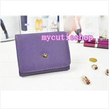 PR056_Purple Tri-Fold Short Wallet