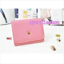 PR056_Peach Tri-Fold Short Wallet