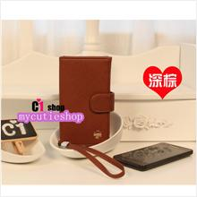 PR058_DarkBrown Korean Design Multi-function Phone Purse