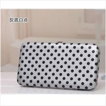 PR034_Grey With White Spot Candy Color Tin Purse