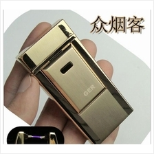 Tiger Electric Pulse Current USB Charging Electronic lighter - Gold