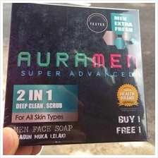 Aura Men Super Advanced Face Soap 2 in 1