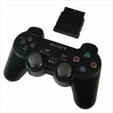 PS2 Playstation 2 Dualshock 2 Wireless 2.4G Controller - Black