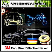 Free Gift + 3M Car Reflective Sticker Tape Strip 5 meter 10/15/20mm(w)