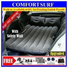 Inflatable Car Bed Back Seat Air Bed Pillow Mattress Camping Sleep