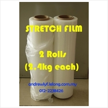 2 ROLLS STRETCH FILM 500mm Thin Core ONLINE PROMO Plastic Packaging