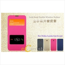 Nokia Lumia 630 530 Leather Flip Cover Case Casing Screen Protector