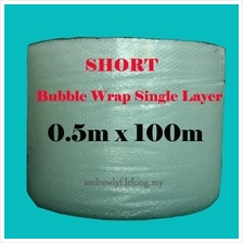Short Bubble Wrap Roll 0.5m x 100m for fragile packaging plastic glass