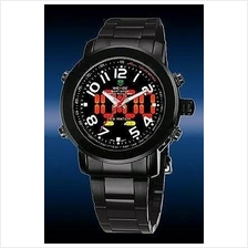 ORIGINAL WEIDE dual time LED wh-1105-B ful black SPORT DIGITAL ANAlog