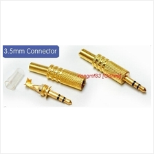 3.5mm Stereo Gold Plated Jack Plug Adapter Connector (CP-C-091)
