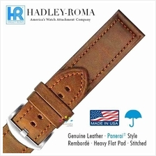 HADLEY ROMA Panerai Style Leather Water Resistant Watch Band Strap TAN