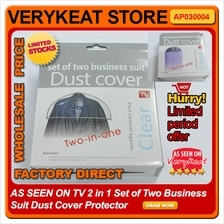 AS SEEN ON TV 2 in 1 Set of Two Business Suit Dust Cover Protector
