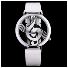 Novelty Musical Note Dial Quartz Movement Watch with PU Leather