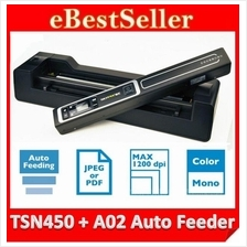 2in1 SKYPIX TSN450 + A02 Auto Feeder Portable Handheld Scanner 1200dpi
