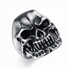 Stylish Personal Style Stainless Steel Skull Shaped Ring Men Finger Ri