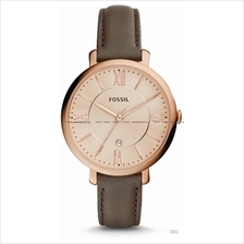 FOSSIL ES3707 Women's Analogue Jacqueline Mini Three-hand Leather Rose