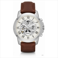 FOSSIL ME3027 Men's Analogue Grant Automatic Leather Strap Brown