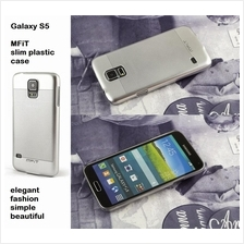 MFiT elegant ultra thin metal look plastic back case Galaxy S5