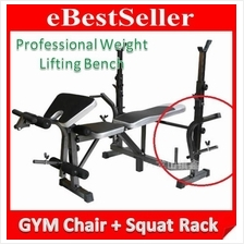New Professional GYM Dumbbell Chair Weight Lifting Squat Rack Bench