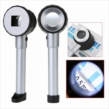 10X Handheld LED Optical Glass Magnifier with Scale Magnifying Jewelry