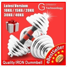 15KG 20KG 30KG 40KG Quality Adjustable IRON Plating Rubber Dumbbell