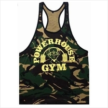 Soldier Power House Gym Singlet (Gym Fitness Sport Baju)
