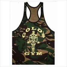 Soldier Gold Gym Singlet (Gym Fitness Sport Baju)(high quality cotton)