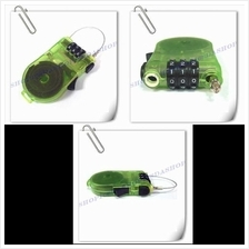 1pc 3 Digit Combination Lock with 90cm Coil