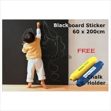 Blackboard Removable Vinyl Wall Sticker 60x200cm(Free 1 Chalk Holder)