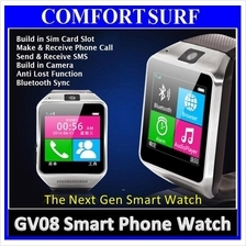 GV08 Real Smart Watch Phone + SIM Slot Camera Bluetooth Touch Screen