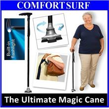 Ultimate Magic Cane Adjustable Heights Foldable + LED + Extra Big Base