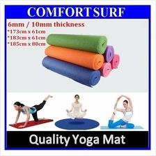Free Carry Bag - 6mm Anti-Slip Yoga Mat for GYM Fitness Exercise Ball