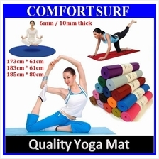 Free Carry Bag - 6mm Non Slip Yoga Mat for GYM Fitness Exercise Ball