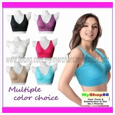 Color Seamless Genie Bra/Available In 1 Piece Or Set/6colors/S-XXL