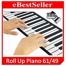 Portable Roll Up Piano Flexible Electronic Soft Piano Keyboard 61key