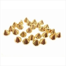 100 pcs Gold tone Sew On Cone stud findings size 8mm