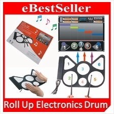 Professional USB Electronic Roll Up Drum Kids Child Musical Instrument