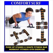 Push Up Stands U S Shape Fitness Bar Workout Fitness gym Exercise