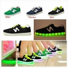 2015 New sneakers led light shoes usb charge Size 43 LED shoes light