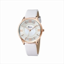 Eyki Kimio KW528M Rose Gold Ladies White Leather Watch