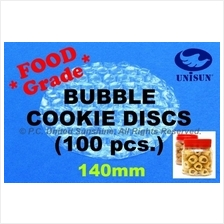 x 100 pcs FOOD GRADE 140mm CIRCLE BUBBLE WRAP for Cookie Biscuit Snack