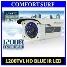 1200TVL 6pcs Crystall Blue Nano IR Lamp Outdoor Waterproof CCTV Camera