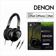 Denon AH-D310R Over-Ear Headphone with 3 Button Remote and Mic