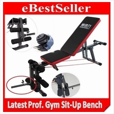 UPGRADED Fitness FID Sit Up Dumbbell Weight Lifting Bench W Leg Curl