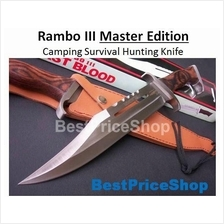 Rambo 3 - Master Edition  Camping Survival Hunting Knife -  Rambo III